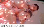 Купить «Couple getting a massage», видеоролик № 31701380, снято 6 ноября 2018 г. (c) Wavebreak Media / Фотобанк Лори