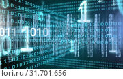 Купить «Conceptual digital animation showing binary technology code 4k», видеоролик № 31701656, снято 12 ноября 2018 г. (c) Wavebreak Media / Фотобанк Лори