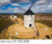 Купить «Consuegra with windmills», фото № 31703540, снято 23 апреля 2019 г. (c) Яков Филимонов / Фотобанк Лори