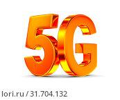 Купить «5g network on white background. Isolated 3D illustration», иллюстрация № 31704132 (c) Ильин Сергей / Фотобанк Лори