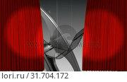 Купить «Theatre curtains revealing a film roll», видеоролик № 31704172, снято 5 марта 2019 г. (c) Wavebreak Media / Фотобанк Лори