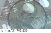 Купить «Magnifying a dollar bill», видеоролик № 31705236, снято 26 марта 2019 г. (c) Wavebreak Media / Фотобанк Лори