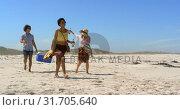 Купить «Group friends carrying picnic item 4k», видеоролик № 31705640, снято 9 января 2019 г. (c) Wavebreak Media / Фотобанк Лори