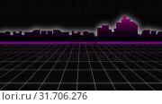 Купить «Outline of modern cityscape and grid», видеоролик № 31706276, снято 13 июня 2019 г. (c) Wavebreak Media / Фотобанк Лори