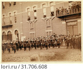 Купить «Deadwood. Grand Lodge I.O.O.F. of the Dakotas, resting in front of City Hall after the Grand Parade, May 21, 1890, John C. H. Grabill was an american photographer...», фото № 31706608, снято 1 июля 2013 г. (c) age Fotostock / Фотобанк Лори