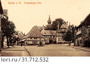 Купить «Timber framed houses in Goslar, Urban squares, Advertising columns in Lower Saxony, 1908, Lower Saxony, Goslar, Frankenberger Plan, Germany», фото № 31712532, снято 24 января 2019 г. (c) age Fotostock / Фотобанк Лори