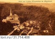 Schloss Weesenstein, Weesenstein, 1911, Sächsische Schweiz-Osterzgebirge, Schloß und Ort (2019 год). Редакционное фото, фотограф Copyright Liszt Collection / age Fotostock / Фотобанк Лори