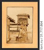 Regina Katharina Quarry after Franz Schutz (German, c. 1762 - c. 1818), Swiss Peasant House, published 1782, 4-color aquatint (2010 год). Редакционное фото, фотограф Artokoloro / age Fotostock / Фотобанк Лори