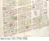 Plate 24: Map bounded by Houston Street, Bowery, Broome Street, Crosby Street. 1857, 1862, Perris and Browne, New York, USA. (2014 год). Редакционное фото, фотограф Artokoloro / age Fotostock / Фотобанк Лори