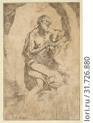 Купить «Drawings and Prints, Print, Saint Jerome kneeling on a rock in front of a cross and an open book facing right, after Reni, Artist, After, Guido Reni, Anonymous...», фото № 31726880, снято 22 апреля 2017 г. (c) age Fotostock / Фотобанк Лори