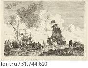 Купить «Seascape in strong winds, Hendrik Kobell, 1778», фото № 31744620, снято 28 декабря 2014 г. (c) age Fotostock / Фотобанк Лори