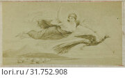Drawing by F. Barrias: Virgil scene from the Aeneidos, Juno with the peacock in the air, Anonymous, 1858 (2016 год). Редакционное фото, фотограф Artokoloro / age Fotostock / Фотобанк Лори