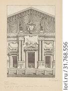 Decoration of the facade of San Lorenzo, Florence, Collection of festival prints, 1530-1887, Bartoli, Pietro Santi, 1635-1700, Ferri, Antonio, d. 1716, Engraving, etching, black-and-white, 1694 (2018 год). Редакционное фото, фотограф © Liszt Collection / age Fotostock / Фотобанк Лори