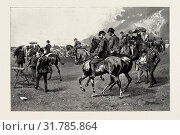 A sketch on Newmarket Heath in July, 1889, the Prince of Wales takes a brief holiday, UK. (2014 год). Редакционное фото, фотограф Artokoloro / age Fotostock / Фотобанк Лори