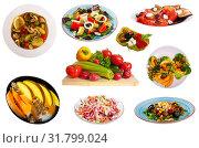 Купить «Set of vegetarian dishes», фото № 31799024, снято 21 февраля 2020 г. (c) Яков Филимонов / Фотобанк Лори