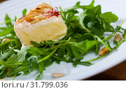 Купить «Camembert cheese with pine nuts and arugula», фото № 31799036, снято 14 июля 2020 г. (c) Яков Филимонов / Фотобанк Лори