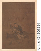 Купить «Daoist Riding Horned Animal, Song dynasty (?) (960–1279), China, Album leaf, ink and color on silk, 12 1/2 x 8 3/4 in. (31.8 x 22.2 cm), Paintings, Attributed to Tong Rênyi», фото № 31806880, снято 9 мая 2017 г. (c) age Fotostock / Фотобанк Лори