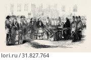 Купить «PRESENTATION OF COLOURS TO THE 14TH REGIMENT BY THE COUNTESS OF EGLINTON.», фото № 31827764, снято 3 января 2013 г. (c) age Fotostock / Фотобанк Лори