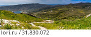 Greek Islands. View of the Korthiou town from high (Andros Island, Cyclades, Greece). (2019 год). Стоковое фото, фотограф Татьяна Ляпи / Фотобанк Лори