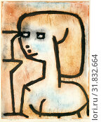 Girl in Mourning, 1939, Gouache, pastel, and charcoal on paper mounted on cardboard, 26 1/8 × 19 3/4 in. (66.4 × 50.2 cm), Drawings, Paul Klee (German... (2017 год). Редакционное фото, фотограф © Copyright Artokoloro Quint Lox Limited / age Fotostock / Фотобанк Лори
