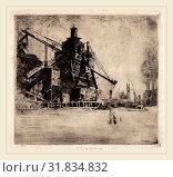 Elisha Kent Kane Wetherill, Otto Coke and Coal Hoist, American, 1874-1929, 1914, etching (2012 год). Редакционное фото, фотограф Artokoloro / age Fotostock / Фотобанк Лори