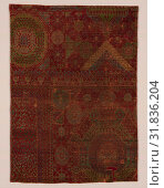 Купить «Textile Fragment, last quarter 16th century, Attributed to Egypt, Cairo, Wool (warp, weft, and pile), asymmetrically knotted pile, Rug: H. 77 1/2 in. ...», фото № 31836204, снято 27 апреля 2017 г. (c) age Fotostock / Фотобанк Лори