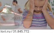 Купить «Conceptual digital animation of kid suffering while parents having a fight 4k», видеоролик № 31845772, снято 26 октября 2018 г. (c) Wavebreak Media / Фотобанк Лори