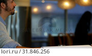 Купить «Male executive interacting with his coworker in office 4k», видеоролик № 31846256, снято 25 августа 2018 г. (c) Wavebreak Media / Фотобанк Лори