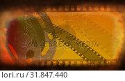 Купить «Old Movie tape video», видеоролик № 31847440, снято 5 декабря 2018 г. (c) Wavebreak Media / Фотобанк Лори
