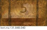 Купить «Movie countdown video», видеоролик № 31848040, снято 5 декабря 2018 г. (c) Wavebreak Media / Фотобанк Лори