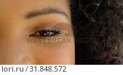 Купить «Close-up of beautiful woman looking at camera 4k», видеоролик № 31848572, снято 7 ноября 2018 г. (c) Wavebreak Media / Фотобанк Лори