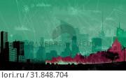 Купить «Abstract line connection on blue and purple background», видеоролик № 31848704, снято 26 ноября 2018 г. (c) Wavebreak Media / Фотобанк Лори