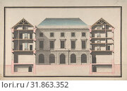 Купить «Design for the Collège de France, Paris: Elevation of Court Front with Traverse Sections Through Side Court Wings, ca. 1772, Pen and black ink, gray,...», фото № 31863352, снято 21 мая 2017 г. (c) age Fotostock / Фотобанк Лори