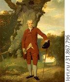 Portrait of a Man, Possibly Mr. Barclay Mr. Thrale, Francis Wheatley, 1747-1801, British (2014 год). Редакционное фото, фотограф Artokoloro / age Fotostock / Фотобанк Лори