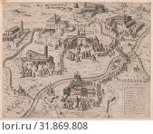 Speculum Romanae Magnificentiae: The Seven Churches of Rome (Le Sette Chiese di Roma), 1575, Etching and engraving, sheet: 15 5/8 x 20 1/16 in. (39.7 x... (2017 год). Редакционное фото, фотограф © Copyright Artokoloro Quint Lox Limited / age Fotostock / Фотобанк Лори