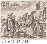 Forgive us our debts, as we also have forgiven our debtors, Johannes Wierix, Maarten van Heemskerck, Philips Galle, 1569 - 1573 (2013 год). Редакционное фото, фотограф Artokoloro / age Fotostock / Фотобанк Лори