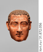 Купить «Mask of a man with short curly hair and long sideburns, Roman Period, A.D. late 1st century probably, From Egypt, Plaster, largely modern paint, h. 19 cm (7 1/2 in)», фото № 31872056, снято 29 апреля 2017 г. (c) age Fotostock / Фотобанк Лори