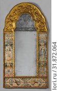 Mirror, third quarter 17th century, British, Silk on satin, H. 59 1/2 x W. 31 inches (151.1 x 78.7 cm), Textiles-Embroidered, Stylized representations... (2017 год). Редакционное фото, фотограф © Copyright Artokoloro Quint Lox Limited / age Fotostock / Фотобанк Лори