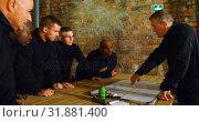 Купить «Military soldiers discussing their plan 4k», видеоролик № 31881400, снято 27 июня 2018 г. (c) Wavebreak Media / Фотобанк Лори
