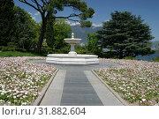 Купить «Фонтан в Ливадийском парке с видом на Ялту», эксклюзивное фото № 31882604, снято 12 мая 2005 г. (c) Дмитрий Неумоин / Фотобанк Лори