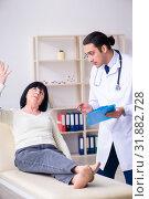 Купить «Young doctor examining senior old woman», фото № 31882728, снято 19 марта 2019 г. (c) Elnur / Фотобанк Лори