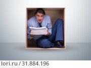 Купить «Employee working in tight space», фото № 31884196, снято 17 ноября 2019 г. (c) Elnur / Фотобанк Лори