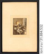 Katharina Prestel after Adriaen van Ostade (German, 1747 - 1794), A Quacksalver, published 1780, 4-color aquatint (2010 год). Редакционное фото, фотограф Artokoloro / age Fotostock / Фотобанк Лори