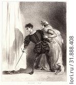 Купить «Eugène Delacroix (French, 1798 - 1863). Hamlet: Qu'est ce donc?, 1834-1843. From Hamlet. Lithographs.», фото № 31888408, снято 17 июля 2013 г. (c) age Fotostock / Фотобанк Лори