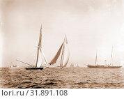 Start, American cup race, Peabody, Henry G, (Henry Greenwood), 1855-1951, Vigilant (Yacht), Valkyrie II (Yacht), America's Cup races, Yachts, Regattas, 1893 (2014 год). Редакционное фото, фотограф Artokoloro / age Fotostock / Фотобанк Лори
