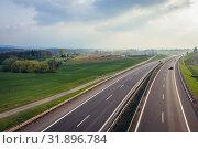 Expressway S52 near Bielsko-Biala city in Silesian Voivodeship of Poland. Стоковое фото, фотограф Konrad Zelazowski / easy Fotostock / Фотобанк Лори