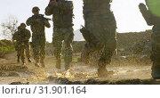 Купить «Military soldiers training during military training 4k», видеоролик № 31901164, снято 27 июня 2018 г. (c) Wavebreak Media / Фотобанк Лори