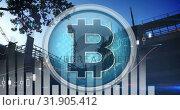 Bitcoin trend and the industry 4k. Стоковое видео, агентство Wavebreak Media / Фотобанк Лори