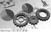 Купить «Gears and statistics», видеоролик № 31917816, снято 13 февраля 2019 г. (c) Wavebreak Media / Фотобанк Лори