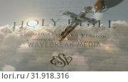 Купить «Holy bible and the crucifix», видеоролик № 31918316, снято 13 февраля 2019 г. (c) Wavebreak Media / Фотобанк Лори